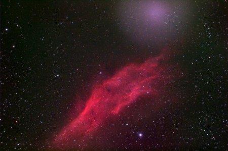 Комета над Калифорнией